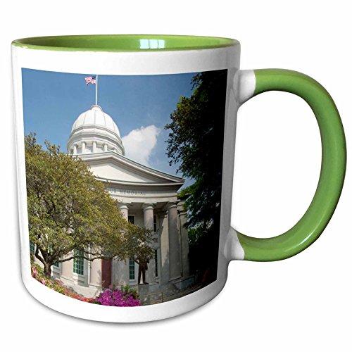 3dRose Danita Delimont - Virginia - Virginia, Norfolk. MacArthur Square - US47 CMI0029 - Cindy Miller Hopkins - 11oz Two-Tone Green Mug - Norfolk Macarthur