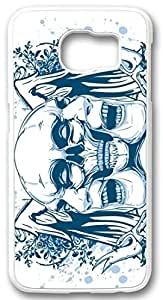 2015 popular Abstract Artistic Psychedelic Case for Samsung Galaxy S6 PC Material White(Compatible With Verizon,AT&T,Sprint,T Mobile,Unlocked,Internatinal)