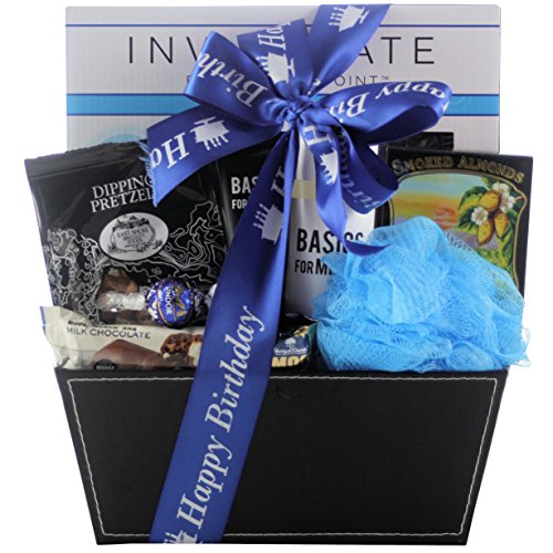 GreatArrivals Gift Baskets Especially for Men, Birthday Spa Basket, 5 Pound