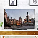 Philiphome tv dust Cover Imperial College in London Dust Resistant Television Protector W19 x H30 INCH/TV 32''
