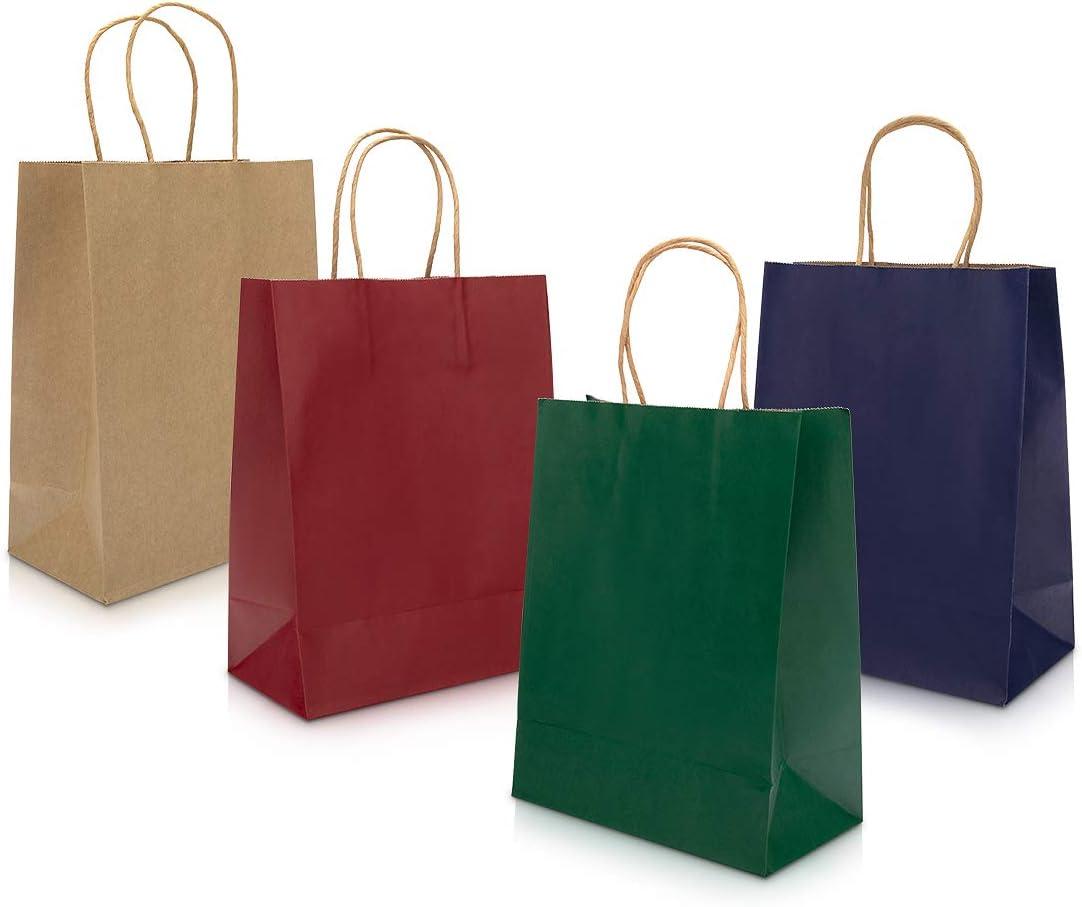 Shopping Feste di Compleanno Regali 27 * 11 * 21CM Shopper Carta peinat 20PCS Sacchetti Carta con Manici Buste Carta con Manico per la Spesa Cottura al Forno Shopping Merce Boutique al Dettaglio