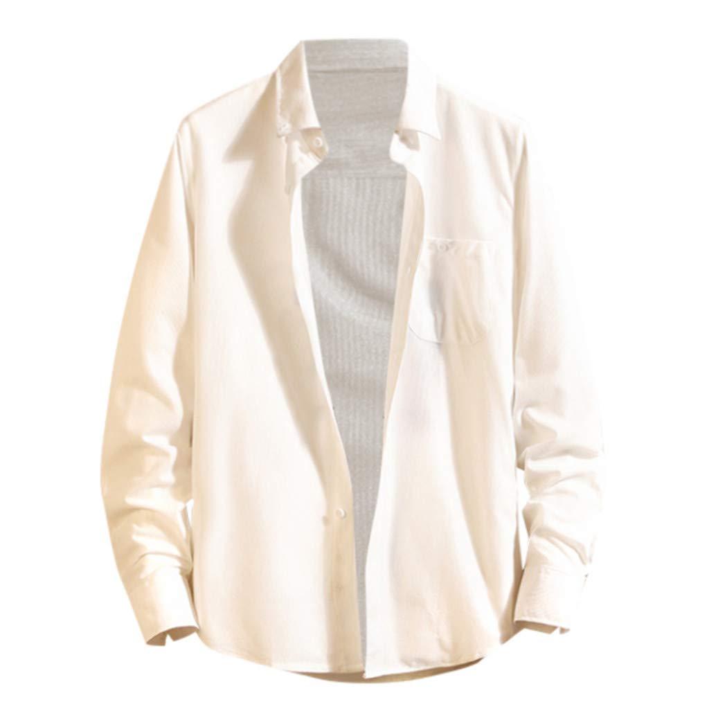 Men Long Sleeve Shirts Fashion ♣ Mens Summer Autumn T Shirts Casual Loose Blouse Top Coat