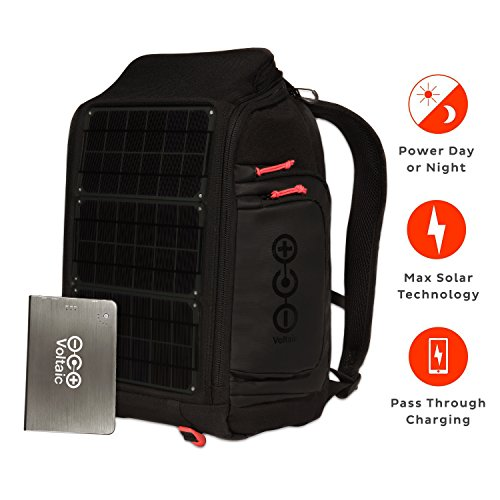 y Rapid Solar Backpack Charger for Laptops | Includes a Battery Pack (Power Bank) and 2 Year Warranty | Powers Laptops Including Apple MacBook, Phones, USB Devices, More - Charcoal (Solar Power Backpack)