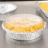 9'' Round Foil Take Out Pan Standard Weight with Plastic Clear Lids Take-Out - 500/Case