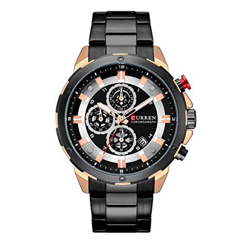 LUCAMORE Men Stainless Steel Strap Watches Men