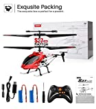 RC Helicopter, S37 Aircraft with Altitude hold, 3.5 Channel, Sturdy Alloy Material, Gyro Stabilizer and High &Low Speed, Multi-Protection Drone for Kids and Beginners to Play outdoor&Indoor-Red