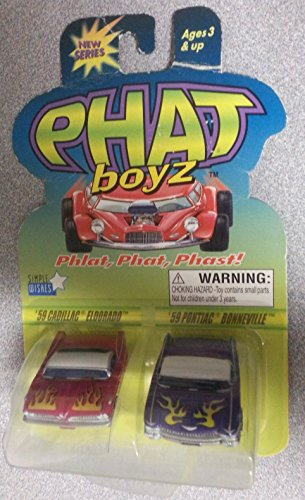 Phat Boyz 1959 Cadillac Eldorado & 1959 Pontiac Bonneville Phlat, Phat, Phast! Toy Vehicle Set (Set Bonneville Pontiac)