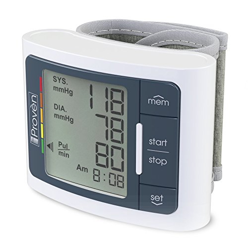 Digital Automatic Blood Pressure Monitor Wrist – Large Screen Display – Clinically Accurate & Fast Reading – FDA Approved – BPM-337 by iProvèn (BPM Wrist)