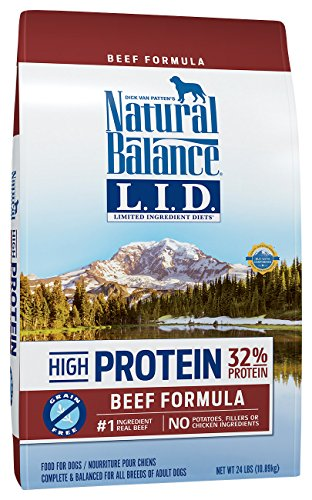 Natural Balance Limited Ingredient Diets High Protein Dry Dog Food, Beef Formula, Grain Free, 24-Pound (Formula Beef Balance Natural)