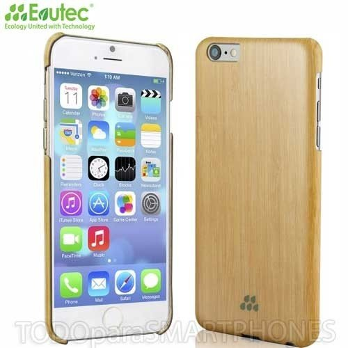 evutec S Series en bois élégant Impact Protection Coque à clipser pour Apple iPhone 6Plus–en bambou