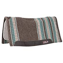 Classic Equine Zone Series Wool Blanket Top Western Pad - 32 x 34 x 3/4