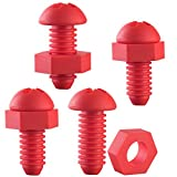 Culiri(TM) Screw Shaped Wine Bottle Stopper. Fits Many Other Bottles. Durable Clean and Lightweight. Reusable Wine Accessory. Great Novelty Gift Item. (4, Red)