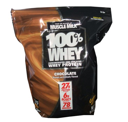 CytoSport makers of Muscle Milk - 100% Whey Protein 27g 6lb Bag of Chocolate