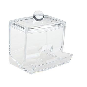 YJYdada Q Tip Swab Acrylic Cotton Organizer Box Cosmetic Stick Holder  Storage