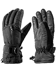 ENKEEO Ski Gloves Waterproof TPU Super Warm Gloves for Thermal Winter Snowboard Cycling Snowmobile for Men and Women 3 Size