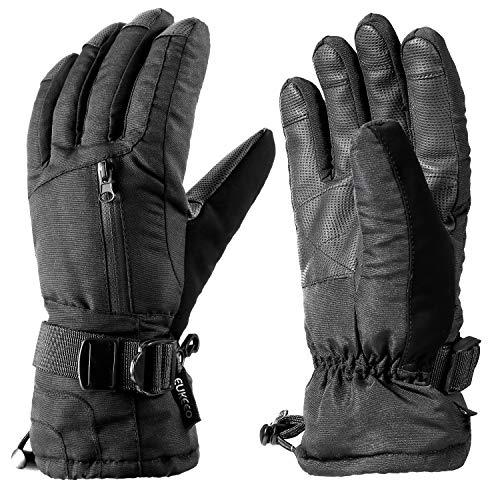 ENKEEO Ski Gloves Winter Snow Insulated Cold Weather for Men Women Black