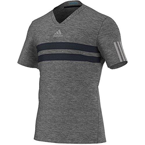 adidas Men's Andy Murray Barricade Climachill Tee-Medium-Dark Grey Heather/Night Grey