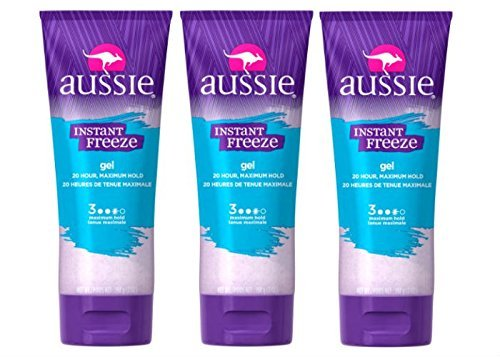 Aussie Instant Freeze Sculpting Gel 7 oz. Maximum Hold (Pack of 3) by Aussie