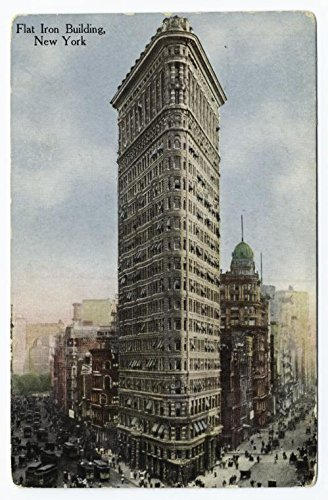 (Historic Pictoric Print | Flat Iron Building, New York, 1912 | Vintage Wall Art | 8in x 12in)
