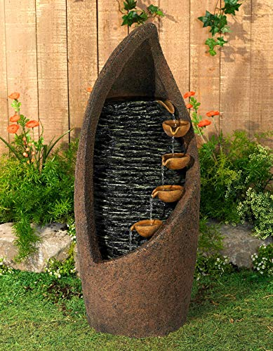 """John Timberland Modern Cascade 34 1/2"""" High Fountain"""
