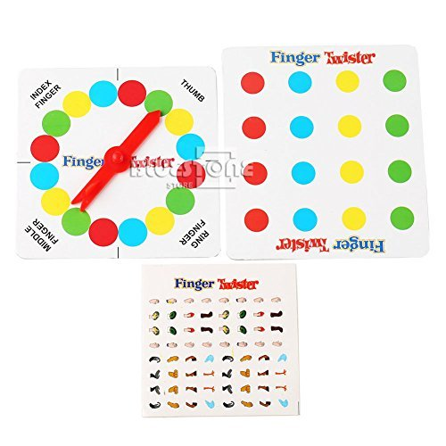 NPLE--Funny Finger Twister Board Game Mini Version Table Party Games Valentine Gift (Game Day Valentines Twister)