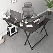 #LightningDeal sogesfurniture L-Shaped Desk Corner Table Computer Desk Workstation Desk PC Laptop Office Desk L Desk,BHCA-ZJ1
