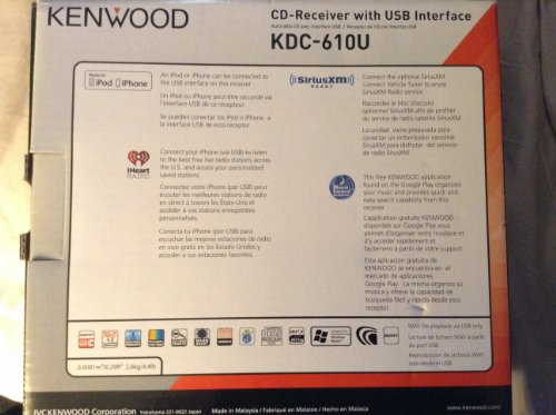 51hTuXZK4eL amazon com kenwood kdc 610u cd player with dual usb multi color kenwood kdc 610u wiring diagram at edmiracle.co