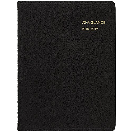 AT-A-GLANCE 2018-2019 Academic Year Weekly Planner/Appointment Book, Large, 8-1/4 x 10-7/8, Black (7095705) from AT-A-GLANCE