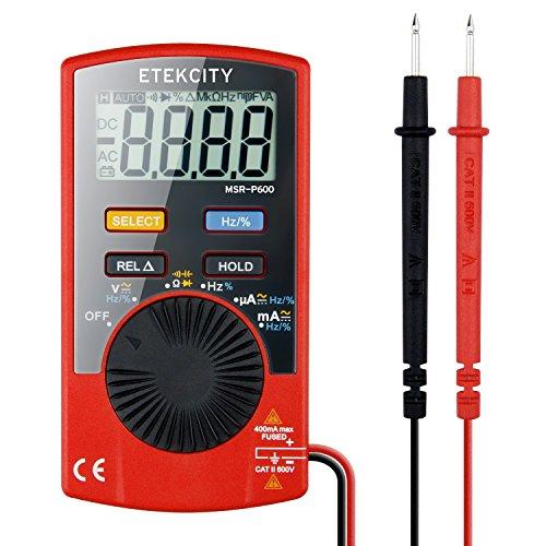 Etekcity MSR-P600 Digital Multimeter, Volt Amp Ohm Meter with Capacitance Test, Red