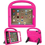 LTROP iPad 2 3 4 Kids Case - Light Weight Shock Proof Handle Friendly Convertible Stand Kids Case with Bulit in Screen Protector for iPad 2, iPad 3rd Generation, iPad 4th Generation,Rose