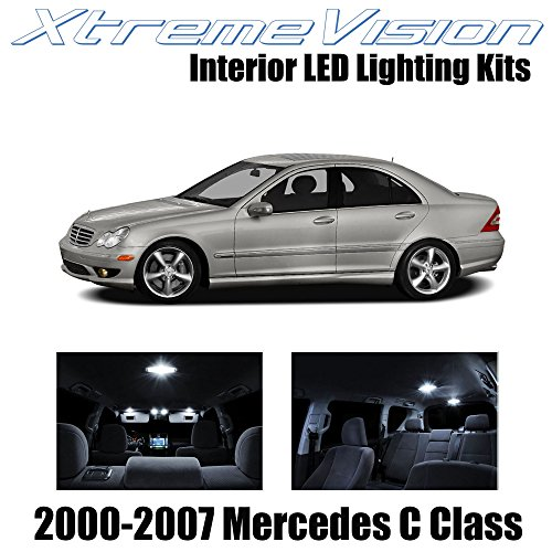 XtremeVision Interior LED for Mercedes C Class 2000-2007 (14 Pieces) Pure White Interior LED Kit + Installation Tool