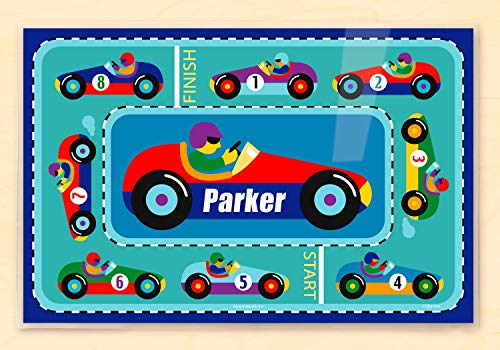 Olive Kids Vroom Bedding Coordinating Personalized Placemat ()