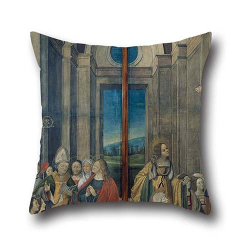 (The Oil Painting Ludovico De Donati - Mary Magdalene, Martha, Lazarus And Maximinus Worshipped By The Prince And Princess Of Provence And Pillowcase Of ,16 X 16 Inch Decoration,gift For Kids Room,adu)