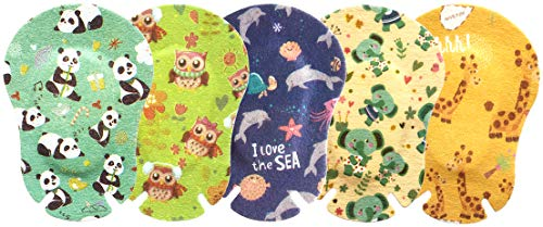 EGOOL Eye Patches for Kids, Treatment of Lazy Eye (Amblyopia), 5 Cute Animal Patterns, 50 Pack Individually Wrapped, Regular Size for Boys and Girls (Best Eye Patches For Babies)
