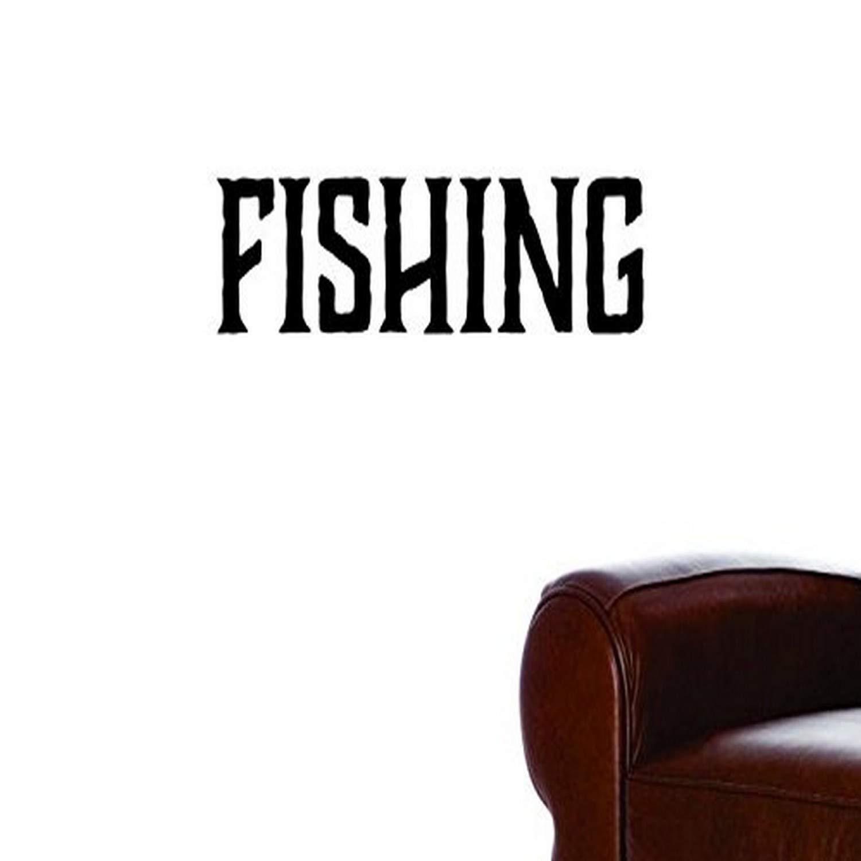 Black 30 x 50 Design with Vinyl Moti 1571 3 Fishing Text Lettering Men Peel /& Stick Wall Sticker Decal