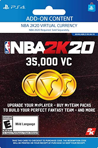 NBA 2K20: 35000 VC Pack - [PS4 Digital Code]