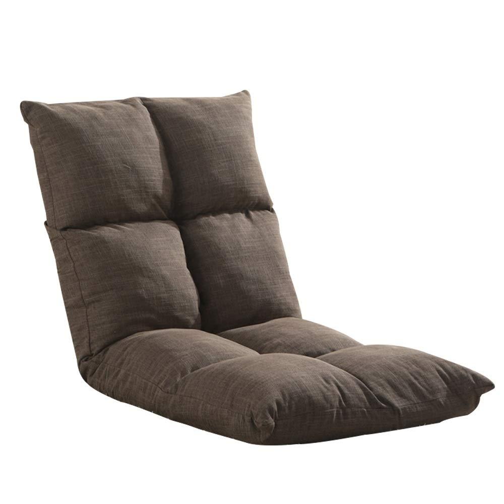 G portable Chaise Longue Salon Canapé Plancher Chaise Meubles Simples Salon Chambre Lit Réglable Paresseux Dossier Coussin For Lecture Méditation Jeu 12 Couleurs (Taille   L)