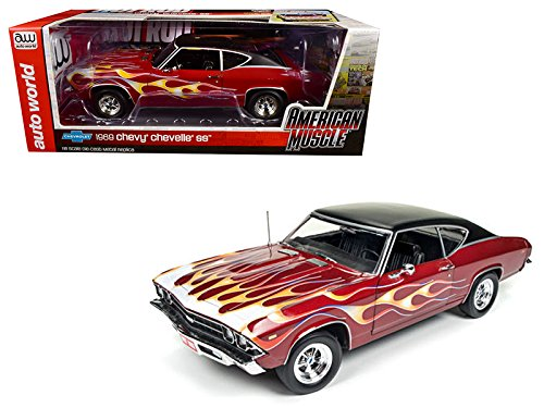 Autoworld AMM1108 1969 Chevrolet Chevelle SS 396 with Flames from Hot Rod Magazine Limited Edition to 1002pc 1/18 Diecast Model Car
