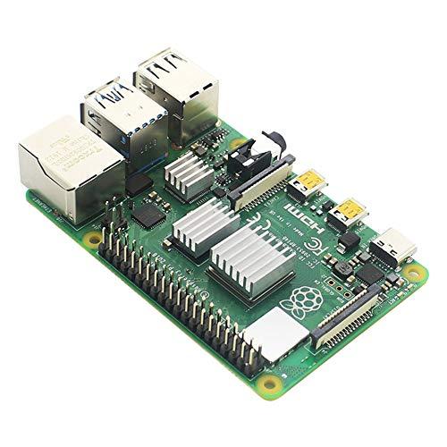 para Raspberry Pi 4 Modelo B Disipador de Calor 3 Piezas Raspberry Pi Disipador de Calor de Aluminio Radiador Refrigerador del Kit para Raspberry Pi Plata
