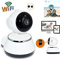 Marceloant 355 Degree Fisheye WiFi IP Camera 720P HD Panoramic Wireless Camera, Nanny Camera, Pet Baby Monitor Smart Home Camera IR Night Vision WiFi Webcam Security System