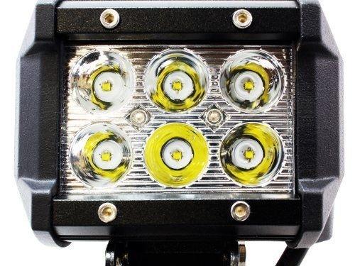 Felji 2X Light Bar 4'' LED 18W Spot Motorcycle Work ATV Off-Road Fog Driving UTV