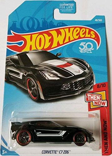 Hot Wheels 2018 Then And Now Corvette C7 Z06 48/365, Black for sale