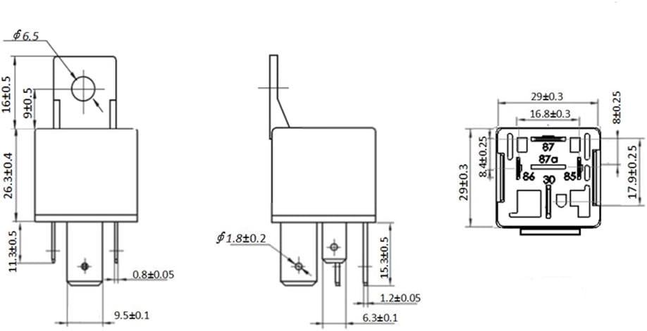 Gazechimp 3X 24V 80A 5 Pol SPST Relais Mit Sockel Zubeh/ör F/ür Auto KFZ LKW Reparatur