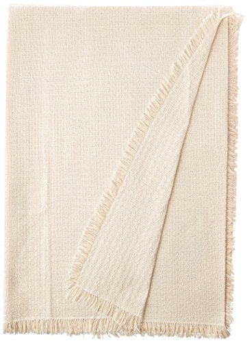 Mountain Laurel Mercantile 62 x 90 (Oval) Homespun Tablecloth, Hand Loomed, 100% Cotton, Solid Natural