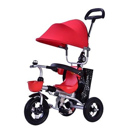 Ydq Triciclo para,NiñOs con Capota ExtraíBle para BebéS A Partir De Los 8 Meses