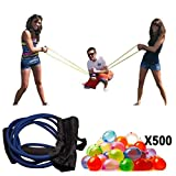POKONBOY Water Balloon Launcher 500 Yards, Heavy Duty Water Balloon Cannon / Slingshot Fun Water Balloon Fight Pool Party Toy,3 Person Giant Angry Birds Summer Beach Games,500 Balloons & Carry Case