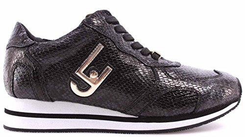 LIU JO Zapatos Sneakers Mujeres Pitone Nero Running Glicine Nuevo