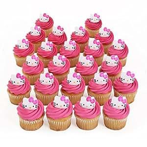 Hello Kitty Cupcake Rings - 24 ct