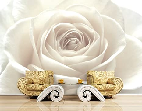 Carta Da Parati Rosa Bianca : Wtd carta da parati in non tessuto n. 26 motivo rosa bianca rosa