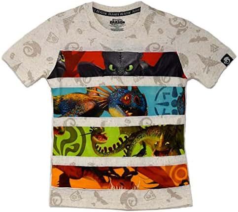 DreamWorks How to Train Your Dragon 3 - The Hidden World Kids Tee Shirt (L (10/12)) Oatmeal